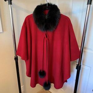 WOOLBLEND & Fur Ladies Cape - NWOT